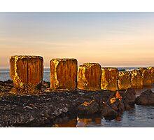 LOSSIEMOUTH - ANTI TANK BLOCKS Photographic Print