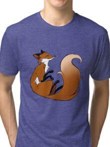 Cute Sleeping Fox Tri-blend T-Shirt
