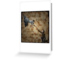 Hello, Doctor. Greeting Card