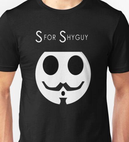 S for Shyguy - V for vendetta Unisex T-Shirt