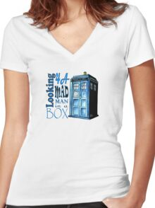 Looking 4A Mad Man In A Box Women's Fitted V-Neck T-Shirt