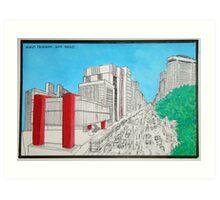 Masp Trianon Sao Paulo Art Print