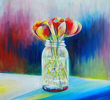 Mason Jar Flowers by Heather Schuer