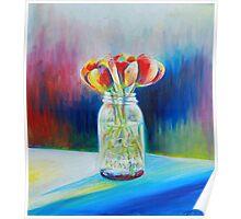 Mason Jar Flowers Poster
