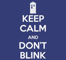 Dr Who - Keep Calm Don't Blink by flowland