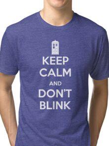 Dr Who - Keep Calm Don't Blink Tri-blend T-Shirt