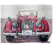 Morgan Red Car Poster