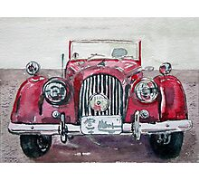 Morgan Red Car Photographic Print
