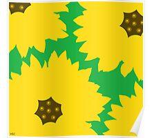 sunflowers green Poster