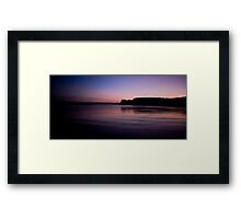 Purple Beach Framed Print
