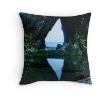 Triangular Cave Throw Pillow