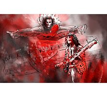 David Lee Roth and Eddie Van Halen Jump Photographic Print
