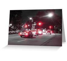 Red Lights - Vancouver Greeting Card