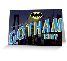 Greetings From Gotham Greeting Card