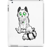 Chibi white and black great wolf iPad Case/Skin