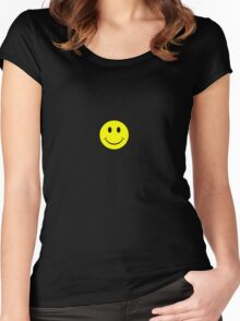 Smily Face Women's Fitted Scoop T-Shirt