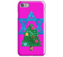 glitter christmukkah hanukkah iPhone Case/Skin