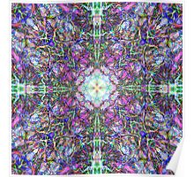 Abstract Colorful Mandala Weave Poster
