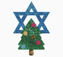 glitter christmukkah hanukkah Kids Tee