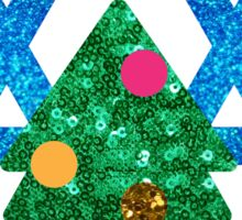 glitter christmukkah hanukkah Sticker