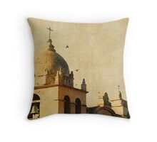 Carmel Mission, Carmel-by-the-Sea, Ca  Birds Throw Pillow