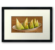 melon slices Framed Print