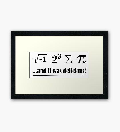 Delicious Pi Framed Print
