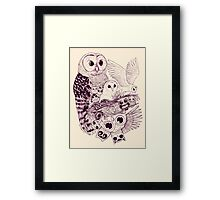 Owl Movement Framed Print