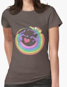 Rainbow Roll by Diversity Dachshund Womens Fitted T-Shirt