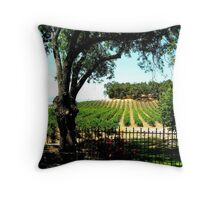 Relax and Wine Down / California Vineyard / Winery Throw Pillow