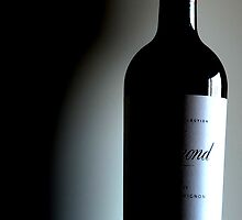 Napa Wine Bottle and Shadow by WineEventsUSA