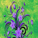 Purple Tribal Flowers by Delights