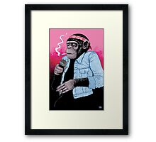 Wet Chimp Framed Print