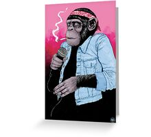 Wet Chimp Greeting Card