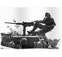 Reclining on a Sherman turret Poster