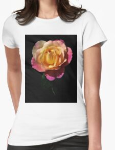 Sweet pink rose Womens Fitted T-Shirt