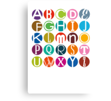 A-Z - in English please Canvas Print