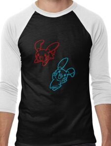 Plusle and Minun Best Friends shirt Men's Baseball ¾ T-Shirt