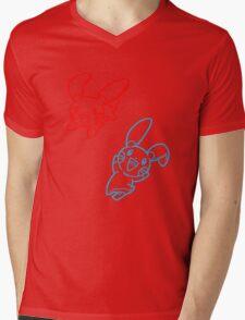 Plusle and Minun Best Friends shirt Mens V-Neck T-Shirt