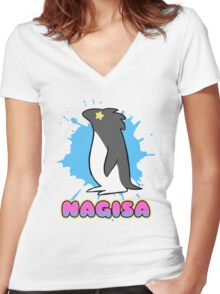 Free!  Nagisa's Penguin Tee Women's Fitted V-Neck T-Shirt