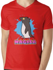Free!  Nagisa's Penguin Tee Mens V-Neck T-Shirt