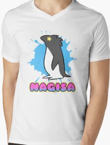 Free!  Nagisa's Penguin Tee Mens V-Neck T-Shirt
