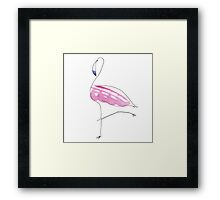 flamingo vogue Framed Print