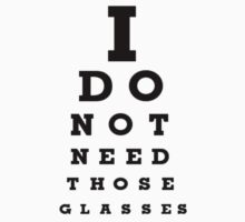 Eye Examination T-Shirt by TheTubbyLife