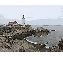 Portland Headlight Photographic Print