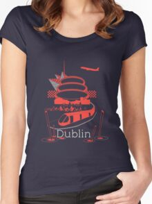 Journey With Dublin [red version] Women's Fitted Scoop T-Shirt