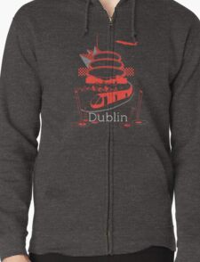 Journey With Dublin [red version] Zipped Hoodie