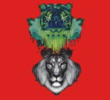 Tigers And Lions In Colour Kids Tee