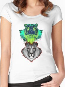 Tigers And Lions In Colour Women's Fitted Scoop T-Shirt