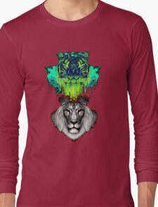 Tigers And Lions In Colour Long Sleeve T-Shirt